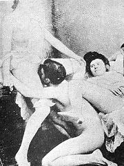 Posing vintage nun
